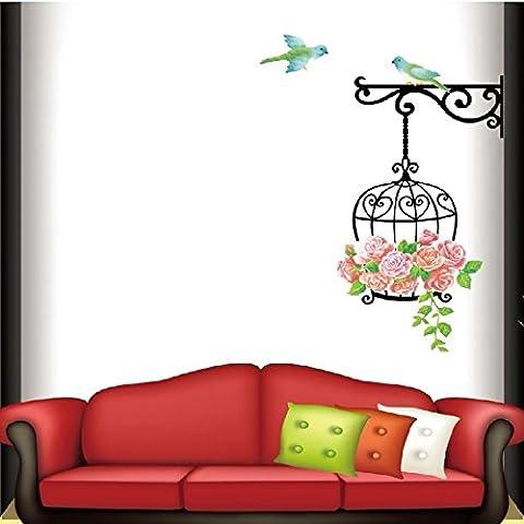 Jaula de hierro forjado creatividad pastoral salón dormitorio infantil niño habitación decoración etiqueta de la pared