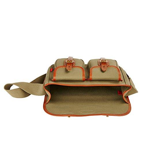 Chapman Bags Sac bandoulière, Khaki (Marron) - NFL14- Khaki Vert olive/marron caramel