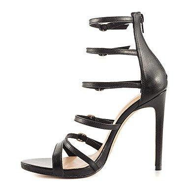 NVXZD scarpe del club stivali estate delle donne novità partito similpelle&sera fibbia vestito cerniera Nero