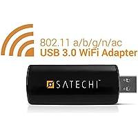 Satechi® mini adattatore di rete USB 3.0 wireless dual band Wi-Fi IEEE 802.11 a/b/g/n/ac 866.7 (Ieee 802.11b / G / N Usb)