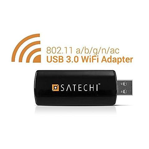 Satechi Wireless USB 3.0 Mini Dual Band Wi-Fi USB Mini Network Adapter IEEE 802.11 a/b/g/n/ac (Ieee 802.11b / G / N Usb)