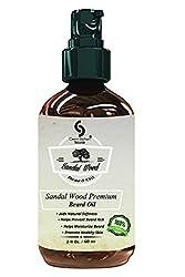 2 Oz Cavin Schon SandalWood Premium Beard Oil - 100% Natural - Softens Your Beard and Stops Itching - With Nourishing Jojoba Oil
