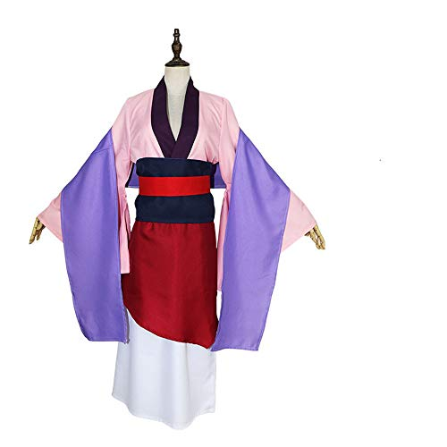 ZQ Hua Mulan Kleid Rosa Kleid Princess Dress Movie Cosplay Kostüm Halloween Kostüme nach Maß,XXL