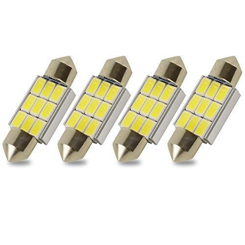 Kashine C5W LED 36mm Canbus Sin errores Blanca 5730 9 SMD 5050 Coche Bombilla Festón Interior luces de la matrícula Dome Lampara (4 piezas)