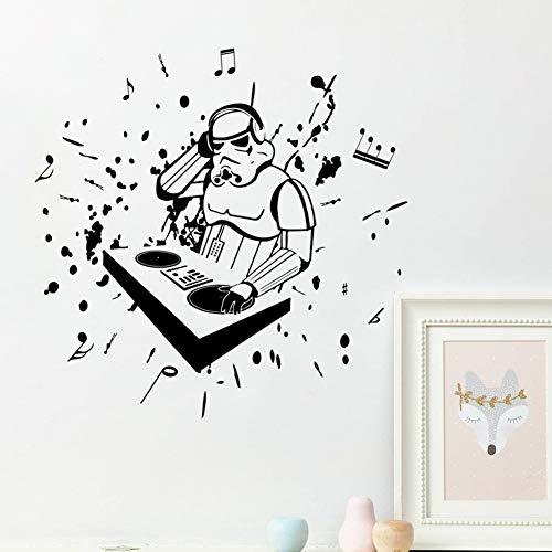 wandaufkleber 3d Wandtattoo Kinderzimmer Stormtrooper Helm Figur Star Wars Soldat hören Musik berühmten Film Home Decor
