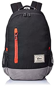 Gear Classic 29 ltrs Grey, Black and Orange Casual Backpack (BKPCAMPS80406)