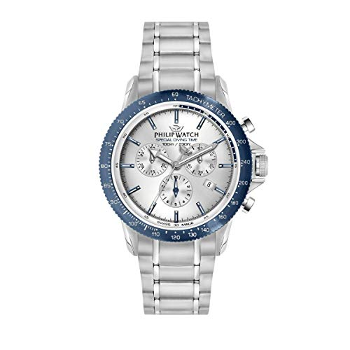 Philip Watch Men's Watch, Grand Reef Collection, Chronograph, Made of Stainless Steel - R8273614005