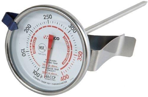 Winco 2-cm-Zifferblatt Tiefe Bratpfanne/Candy Thermometer mit 5-Zoll-Sonde von Winco USA (Bratpfanne Usa)