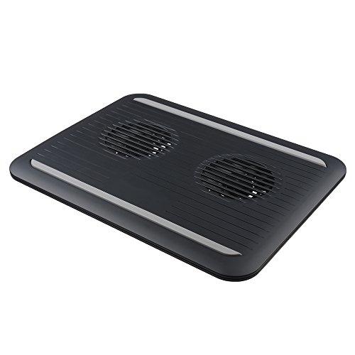 Soporte de almohadilla con ventilador de refrigeración doble por USB para ordenadores...