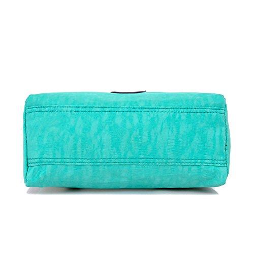 Sweetmeet in Nylon da donna, borsetta, borsa a tracolla, borsa da viaggio impermeabile con cerniera, da donna, stile Casual, (Rosso anguria), (Rosso anguria)