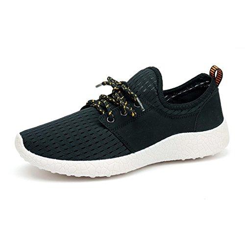Men's Breathable Lace Up Lightweight Running Shoes women men black