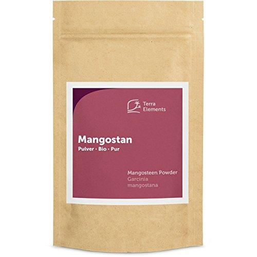 Terra Elements Bio Mangostan Pulver 100 g I Aus den Schalen I Geeignet für Tee I 100% rein I Vegan...
