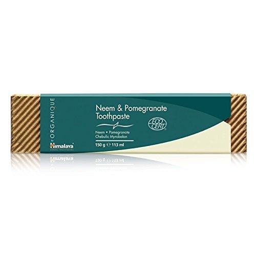 HIMALAYA HERBALS Neem und Granatapfel Zahnpasta | Alle natürliche Zahnpasta | Fluoridfreie Saccharinfreie und SLS-freie Zahnpasta | Zertifiziert Organic von Ecocert - 150g (Natürliche Zahnpasta Fluorid-freie)