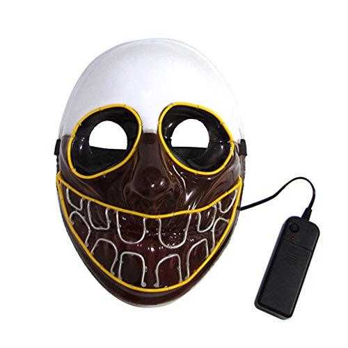 Kostüm Mit Led Beleuchtung - Halloween-Kostüm mit LED-Beleuchtung, Totenkopf-Maske, Draht, Cosplay-Kostüm,