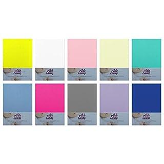 Kinder Baby Jersey Spannbettlaken Spannbetttuch 60x120 - 70x140 cm hochwertige 140 g/m² Arle-Living (weiß / white / blanc)
