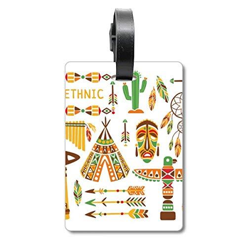 Totem Native American Indian Dream Catcher Cruise - Etiqueta de identificación para Maleta