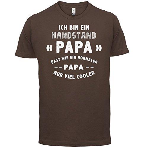 Ich bin ein Handstand Papa - Herren T-Shirt - 13 Farben Schokobraun