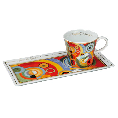 Goebel 66513813'Lebensfreude Kaffee Set, Porzellan, bunt, 24 x 12 x 8 cm