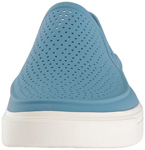 crocs Herren Citilane Roka Flache Hausschuhe Blau (Dusty / Blau / Weiß)