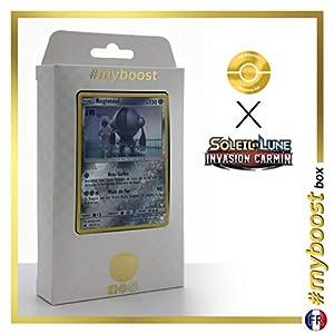 Registeel 68/111 Holo Reverse - #myboost X Soleil & Lune 4 Invasion Carmin - Box de 10 Cartas Pokémon Francés