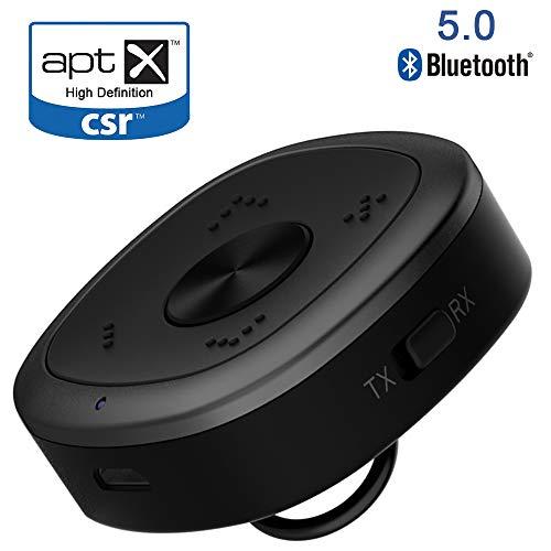 Bluetooth 5.0 Transmitter und Empfänger,MFY&CZ 2-in-1 Wireless Bluetooth Audio Radio Adapter,aptX HD und aptX LL,RCA USB Anschluss, zwei Verbindungen, für Hause TV Auto Laptop Stereoanlage Kopfhörer Lautsprecher