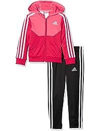 adidas Mädchen Hooded Polyester Trainingsanzug