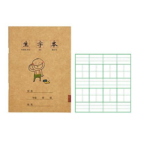10er-Pack Übungsbücher für chinesische Schriftzeichen - Umweltfreundlicher Tintendruck - Ein perfektes Geschenk für Anfänger, die chinesische Schriftzeichen lernen (Sheng Zi Ben,13 * 18CM)