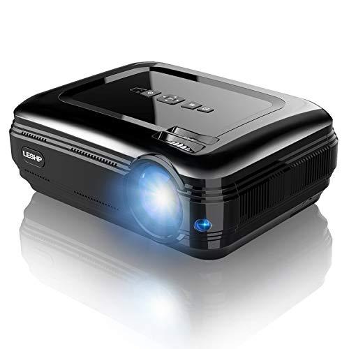 BL58 - HD Projektor LED 1080P (3200 DVI, 1280 x 800 bis zu 1080p, Kontrast 3000: 1, Beamer/Projektor mit Schnittstelle Input HDMI, VGA, USB, VGA, AV, Stereo-Lautsprecher 3 W mit, Spanisch), Schwarz Dvi-stereo