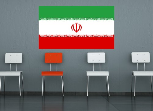 Kiwistar Wandtattoo Sticker Fahne Flagge Aufkleber Iran 120 x 69cm
