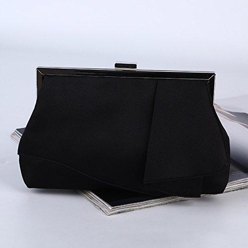 Die Neue, Reine Handarbeit, Seide, Hochzeit, Bankett -, Abend - Tasche, Hand - Tasche black