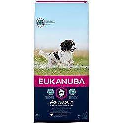 Eukanuba–Pienso para perro adulto de raza mediana–pollo–15kg
