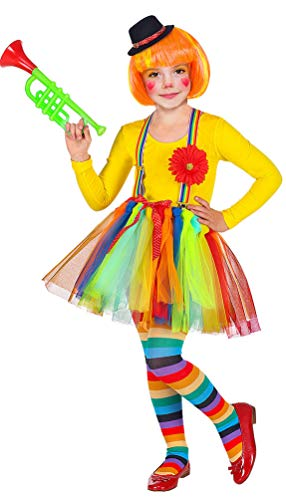 Kostüm Mädchen Kleinkind Clown Für - Karneval-Klamotten Clown Kostüm Kleinkind Tutu mit Minihut Mädchen-Kostüm Größe 110