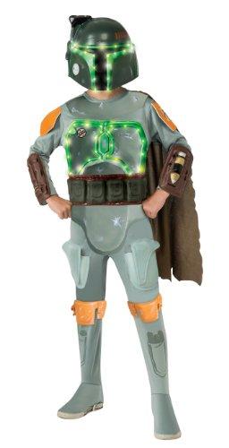 Rubie's Star Wars Kinder Kostüm Boba Fett Lite-Up zu Karneval Gr.8-10 Jahre