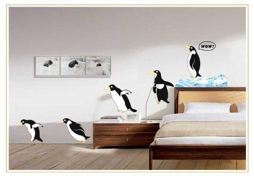 Cute Animale Pinguino rimovibile adesivo da parete