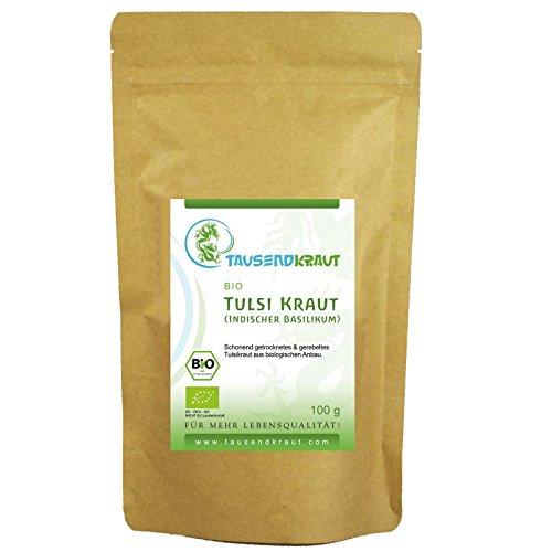Tulsi Tee - Indischer Basilikum BIO (100g) [Ocimum tenuiflorum] Tausendkraut