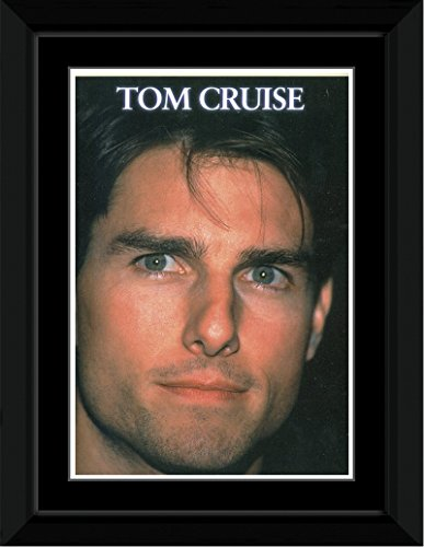 Tom Cruise - Portrait Framed and Mounted Print - 14.4x9.2cm