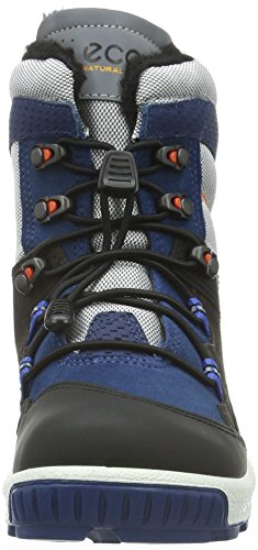 Ecco Biom Hike, Chaussures Multisport Outdoor Garçon Noir (POSEIDON/SILVER GREY-BLACK59694)