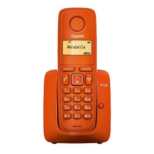 Gigaset A120 DECT Teléfono Inalámbrico, Color Naranja