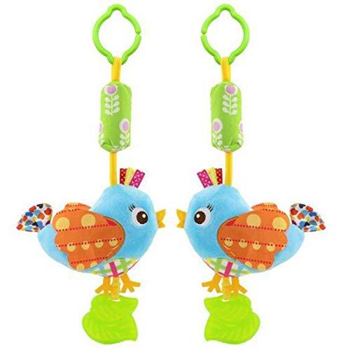 Kinderwagen-Spielzeug zum Aufhängen, Plüschtier mit Glocke, Beißring, Kinderwagen