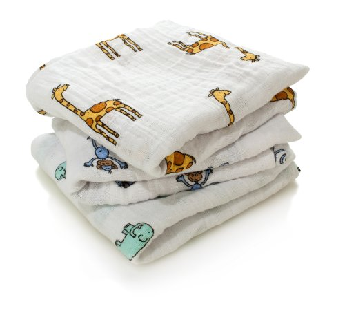 aden + anais Jungle Jam Cotton muslin Square Musy (3 Pack)