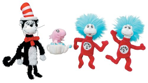Toy Spielzeug-Katze im Hut Fingerpuppen Box Set ()