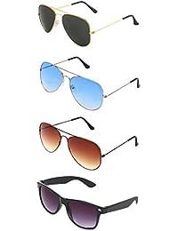 74e2e414f Zyaden Combo of Aviator, Aviator, Aviator & Wayfarer Sunglasses-COMBO-3071