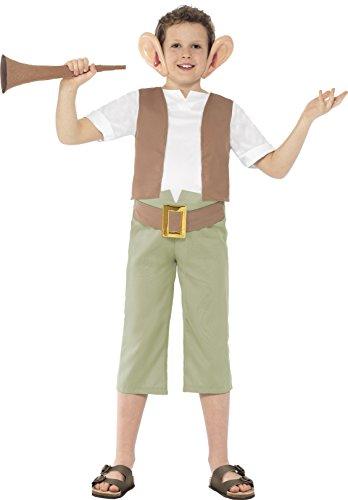 Smiffy's 27145L - Roald Dahl BFG Kostüm mit Top Hosen Ohrstirnband und Horn, grün (Roald Dahl Tag Kostüm Ideen)