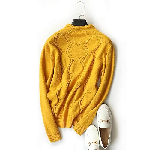 ter, Halbhoher Kragen, Schlank, Schmal, Pullover, Wolle, Pullover, Damenbekleidung,Gelb,Einheitsgröße ()