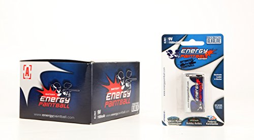 Boite de 12 piles ENERGY PAINTBAL 9 Volts