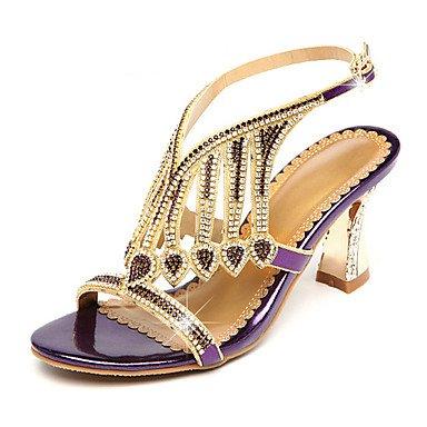 Rtry Femmes Sandales Été Automne Club Chaussures Confort Nouveauté Microfibre Fête De Mariage Et Robe De Soirée Talon Stiletto Cristal Strass Us8 / Eu39 / Uk6 / Cn39