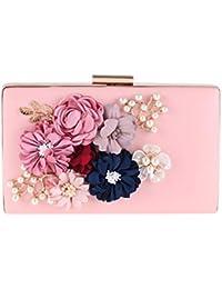 6e52427018672 Jxth Clutch Handtasche Braut Handtasche Damen-Faux-Perlen-Blumen -Ketten-Kupplungs-Hochzeits-Handtaschen-Geldbeutel…
