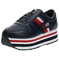 Tommy Hilfiger CUSTOMIZE FLATFORM, Women's Sneakers, Blue, 38 EU