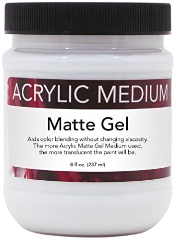 Art Advantage 8-Ounce Acrylic Matte Gel, Medium by Art Advantage