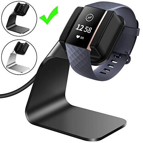 CAVN Ladegerät Kompatibel mit Fitbit Charge 3 Ladekabel Dock, (150cm/4.9ft) Ersatz USB Premium Ladestation Charger Kabel Charging Adapter Stand Ladegerät für Charge 3 /SE Fitness Tracker (Schwarz)